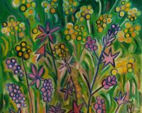 Art Orna nature flowers painting 14