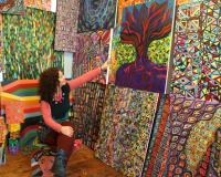 Orna Schneerson Pascal with her Art work