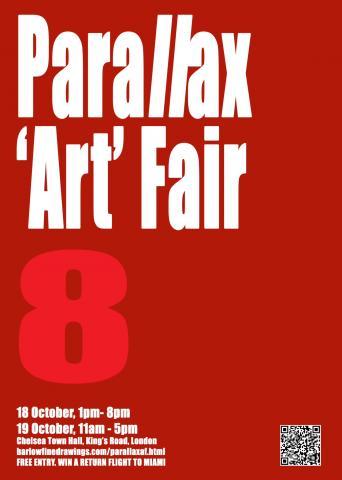 Parallax art fair Chelcea Town Hall London - poster