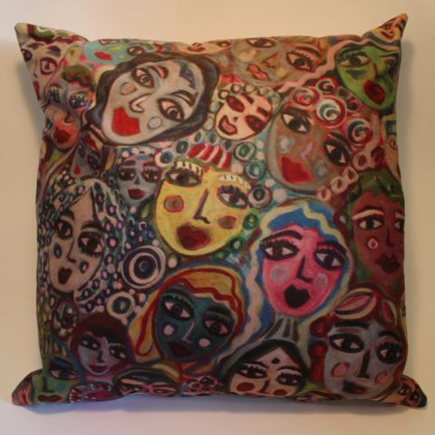 ArtOrna Faces Cushion Cover