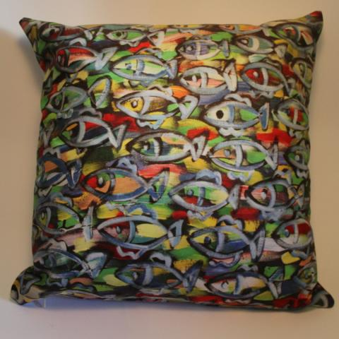 Cushion Cover of Orna's fish painting