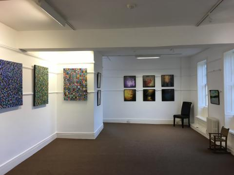 Exhibition at the grange in Rottingdean with art