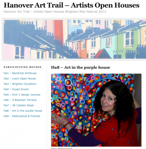 Orna Schneerson at the hanover art trail