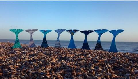 Whale tails in Brighton