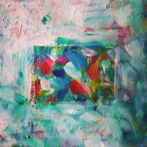 Orna Schneerson Pascal - Reflection Acrylic on canvas painting