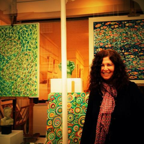 Orna featured artist at Chalk gallery February 2015